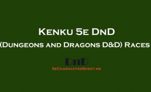 Kenku 5e DnD (Dungeons and Dragons) Race