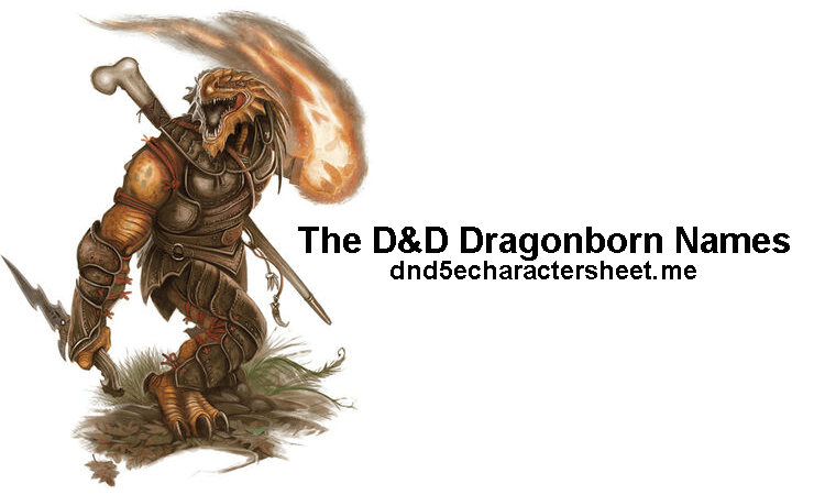 The D&D Dragonborn Names