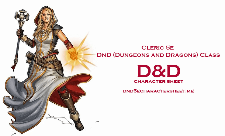 Cleric 5e DnD (Dungeons and Dragons) Class