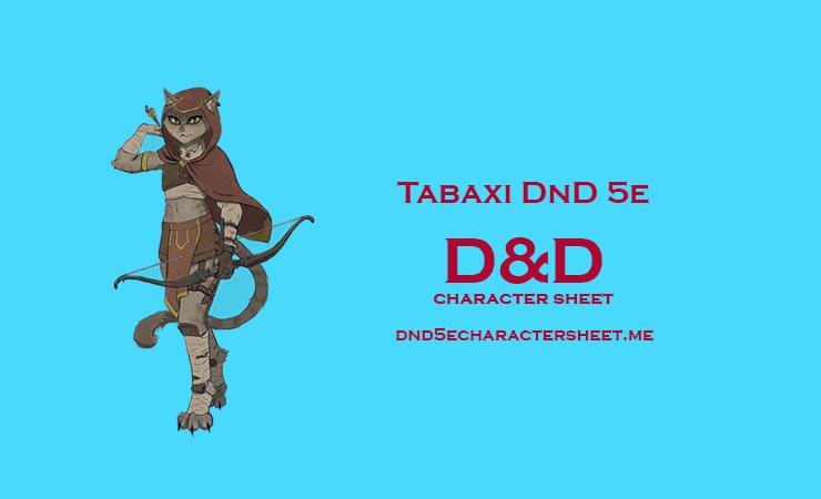 Tabaxi DnD 5e